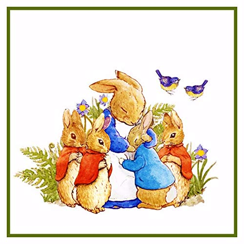 - Peter Rabbit's Family in The Garden Inspired by Beatrix Potter Counted Cross Stitch Pattern