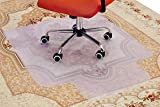 PROAID 36'' x 48'' Carpet Chair Mat, Low and Medium Pile Office Chair Mat with Lip Suitable for Home, Office, Protect The Carpet from The Damage of The Chair, Silver