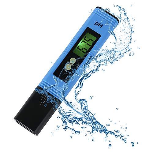 Portable Digital PH Meter Tester,Large Backlit LCD Screen,PH Meter Water Quality Tester with 0-14 PH Measurement Range for Water, Pool,Soil,Hydroponics, Aquarium, Beer Brewing,Wine,Food, Urine,lab