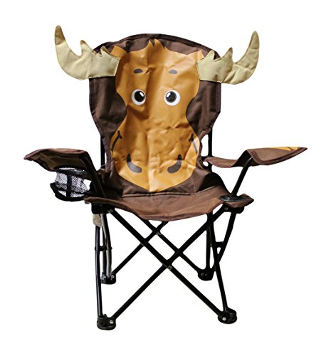 Wilcor Kids Folding Camp Chair with Cup Holder and Carry Bag - Moose (Best Furniture European Outdoor Brands)