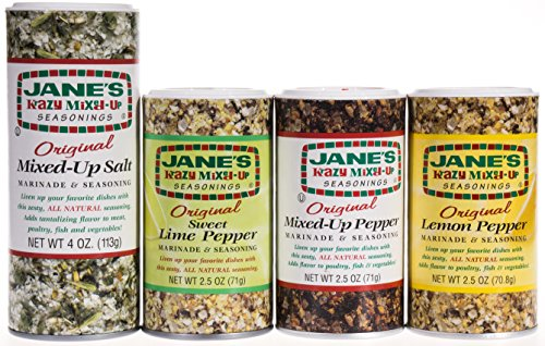 Janes's Krazy Mixed Up Variety, Original, Pepper, Sweet Lime Pepper, and Lemon Pepper