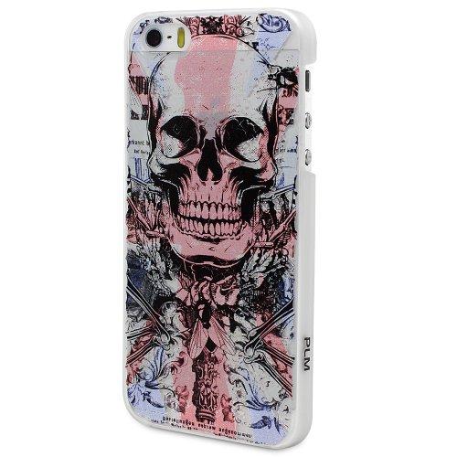 "PLM ""avanos UK Motif verre Skull–Apple iPhone 5s, iPhone 5housse coque case Back Cover Opale/Blanc (Lait)"