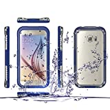 Galaxy S6 Edge cover case,Waterproof Case Dustproof Shockproof Snowproof Gel Touch Screen Ipx8 Swimming Diving Cover For Samsung GALAXY S6 edge 2015 (deep blue)