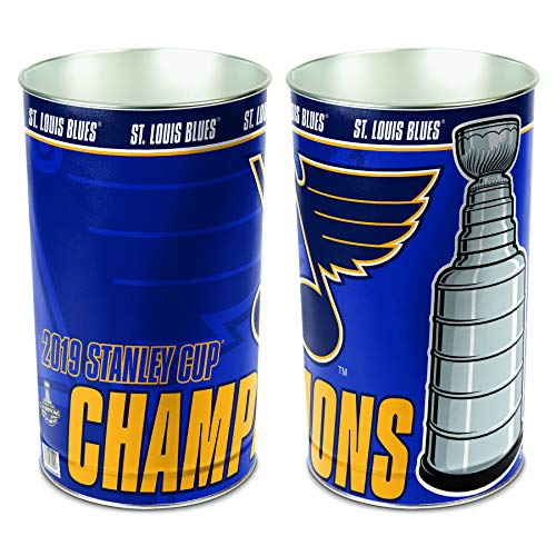 (WinCraft St. Louis Blues 2019 Stanley Cup Champions Wastebasket Trash Can)