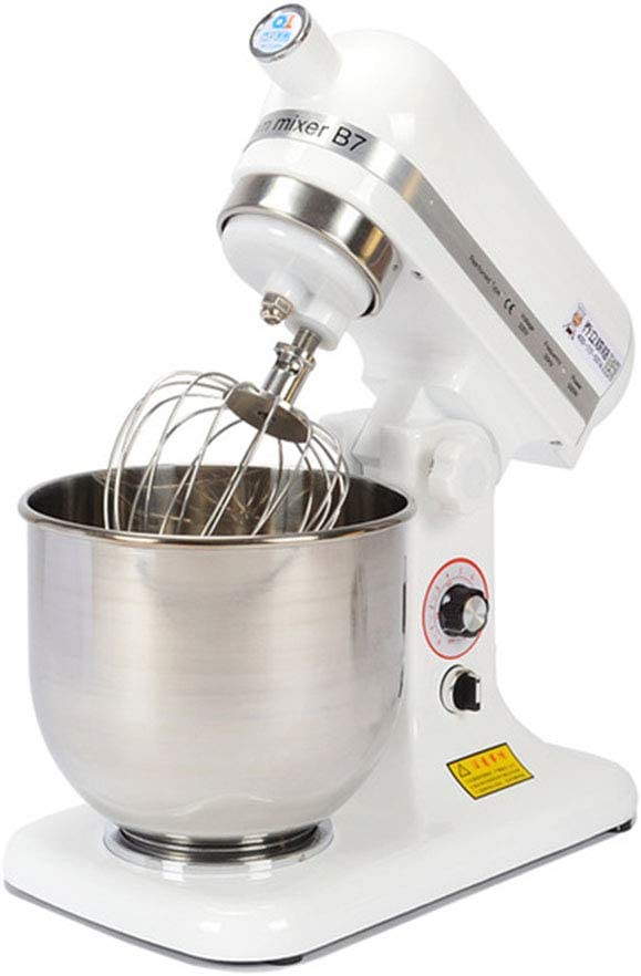 Robot De Cocina Amasadora Batidora Y Mezcladora Para Reposteria Cuenco De 7 L, Control De 9 Velocidades, Incluye 2X Batidor Para Hornear Pasteles Crema De Huevo De Cocina, Uso Comercial Y Doméstico: