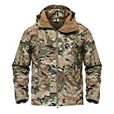 TACVASEN Mens Outdoor Hunting Hiking Camping Climbing Tactical Jacket Coat CP,US S
