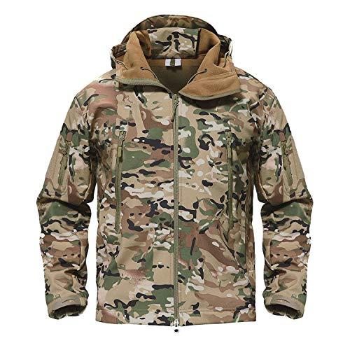 - TACVASEN Mens Outdoor Hunting Hiking Camping Climbing Tactical Jacket Coat CP,US L