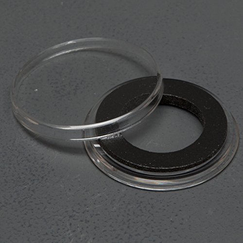(25) Genuine Air-Tite Coin Holders Brand Black Ring Type Coin Capsules Protect your Valuable Silver, Gold, Platinum, Challenge, and Medallion Coins with our Crystal Clear Protective Holders (20mm Black Ring)