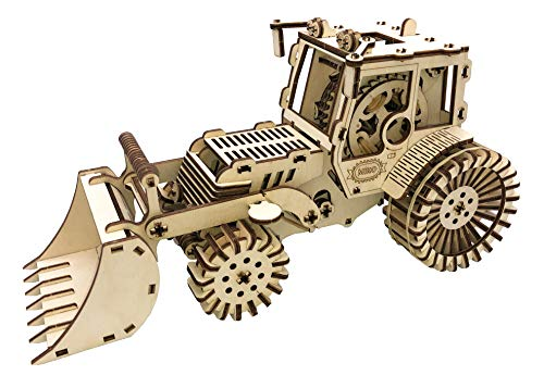 3D Wooden Puzzle Gifts for Teens Wooden Puzzles for Adults Model Kit Engineering Toys Mechanical Model Bulldozer