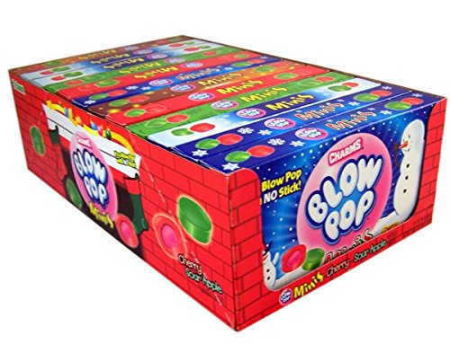Charms Blow Pops Minis Christmas Stocking Stuffer Box, 3 oz (Case of 12) (Charms Mini Pops)