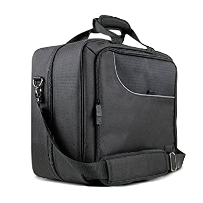 USA Gear CPAP Machine Travel Bag and Carrying Case Compatible with XT Fit, AirStart 10 and Phillips Dreamstation - Storage for Power Cables, 6 ft Hose, Mask and More with Customizable Interior