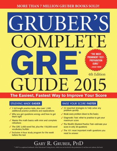 Gruber's Complete GRE Guide 2015