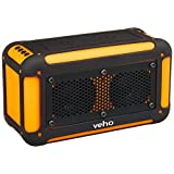 Veho 360 Vecto Wireless Water Resistant Outdoor Speaker with 6000mAh Powerbank and 4GB microSD Card (Orange)