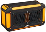 Veho VXS-001-ORG Vecto Water Resistant Wireless Speaker with Integrated 6000mAh Phone/Tablet Charger with Carry pouch/Carabineer/4GB Memory, Sports Orange