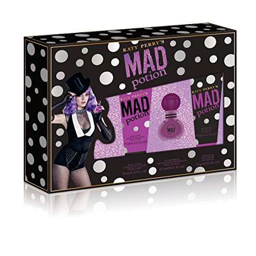 Katy Perry Mad Potion 3 Piece Gift Set 0.5 Ounce Eau De Parfum Plus 2.5 Ounce Shower Gel Plus 2.5 Ounce Body Lotion