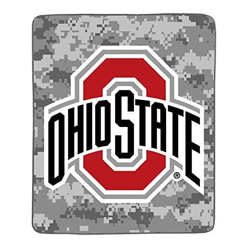 (Ohio State Buckeye Camo Pixel Fleece Blanket )