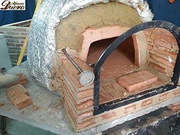 Termómetro para horno de leña hasta 500ºC con vaina de 50 CM ...