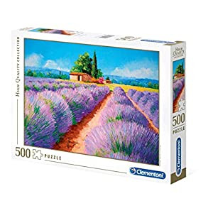Clementoni 35073 High Quality Collection Puzzle Lavender Scent 500 Pezzi Made In Italy Puzzle Adulto