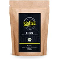 Sencha Grüntee Bio 1000g - Top Sencha - 1 kg topprijs - mild, licht gras, daarbij fijn kruiden en bloemig - Fairbiotea…