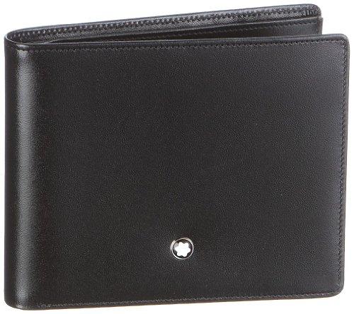 Mont Blanc Meisterstuck Wallet - Montblanc Meisterstuck Men's Medium Leather Wallet 6CC 16354
