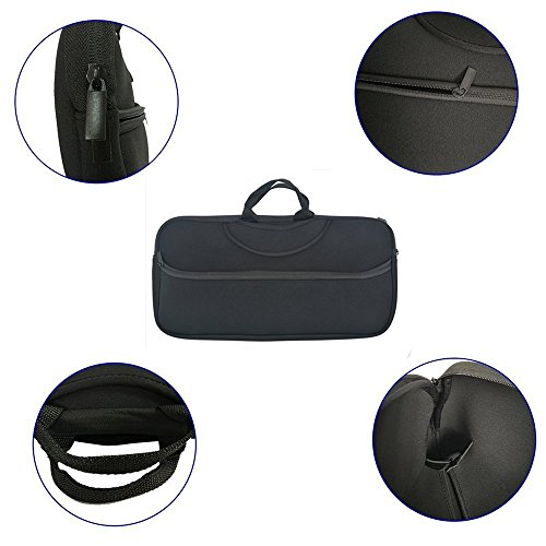 CYGQ Black Color Soft Neoprene Sleeve Carrying Travel Case for Canon PIXMA iP110 and PIXMA iP100 Portable Printer/Mobile Photo Printer and Power Adapter & Cable apter & Cable by CYGQ (Image #2)