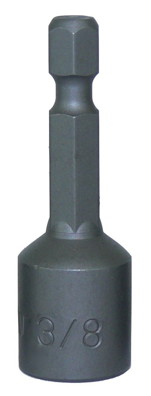 3/8-Inch Magnetic Hex Head Driver Bit w/Quick Change Shank - Used for Installing Screws, Nuts, Bolts, etc. - Commonly Used for Metal Roofing Screws - (5 PACK)