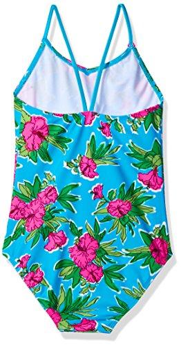 Kanu Surf Toddler Girls' Daisy Beach Sport 1-Piece Swimsuit, Krista Floral Aqua, 3T