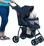 Pet Gear Happy Trails Lite No-Zip Pet Stroller, Jaguar