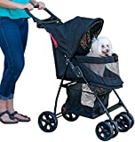 Cheap Pet Gear No-Zip Happy Trails Lite Pet Stroller, Zipperless Entry, Jaguar