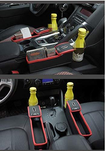 ASADVE Kfz-Aufbewahrungsbox Multifunktionale Aufbewahrungsbox Autositz Seam Locker Box Water Cup Rack