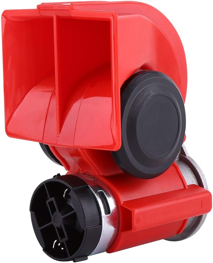 Voiture v/éhicule klaxon-12V double ton escargot klaxon /à air /électrique trompette super forte trompette pompe /électrique sir/ène pour voiture moto