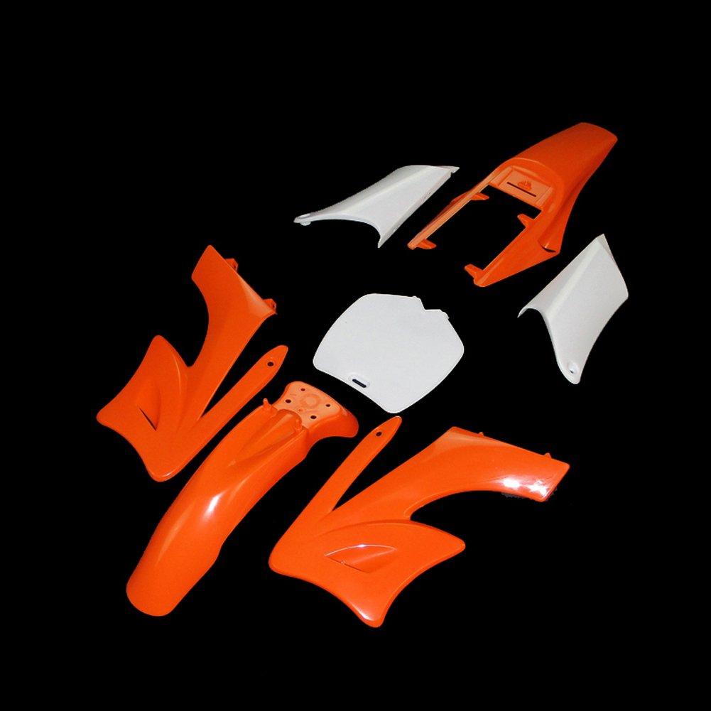 stoneder orange 7-teilig hohe Festigkeit Kunststoff Fender Verkleidung Body Kits f/ür chinesische 2/Takt 47/cc 49/cc Apollo Orion Mini Dirt Bike