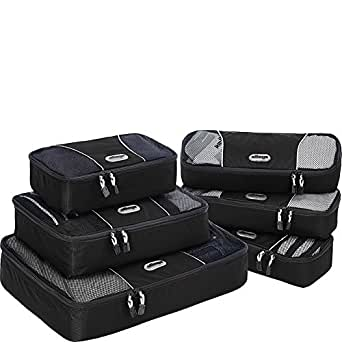 eBags Packing Cubes - 6pc Value Set (Black)