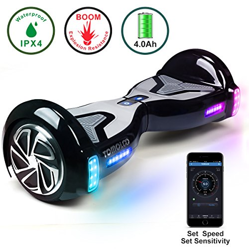 TOMOLOO Self-Balancing Scooter UL2272 Certified 6.5' Wheel Hoverboard with RGB...