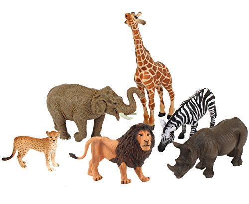 - Ericoo Animal Figurines Toys Set Educational Resource Hand Painting African Animals Figures for Kids Toddlers with CPC Approval and ASTM Test-Anim004