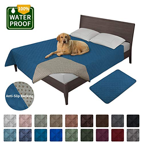 Easy-Going 100% Waterproof Dog Bed Cover Washable Couch Cover Non-Slip Sofa Cover Furniture Protector Cover Reusable…