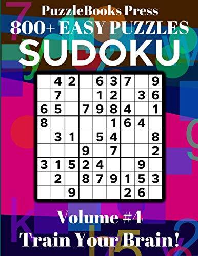 Price comparison product image PuzzleBooks Press Sudoku 800+ Easy Puzzles Volume 4: Train Your Brain!
