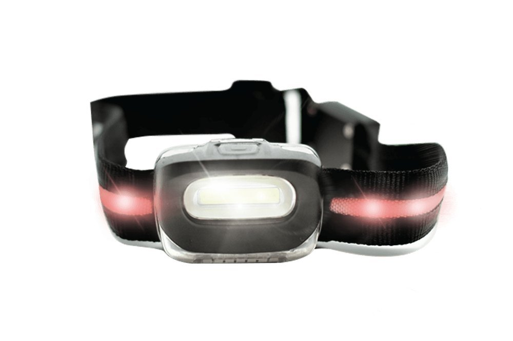 X360 Running Headlamp by Runner's Goal - Bright LED Headlight With Red Lights - Perfect Flashlight Alternative & Night Gear For Runners, Dog Walking, Joggers, Night Hiking & Camping Light