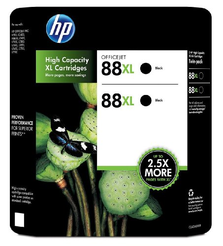 HP twin value pack ink cartridges (Office Jet 88XL)