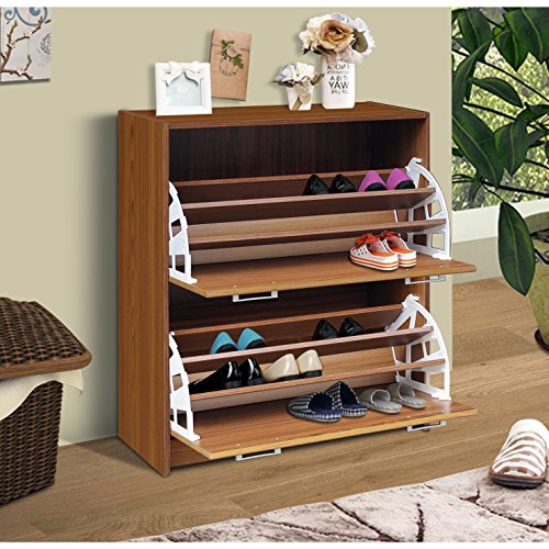 4d Concepts Storage (4D Concepts Deluxe Double Shoe Cabinet, Oak)