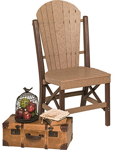 Amazon.com: Poly Lumber fanback estilo side chair en 7 ...