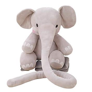 YEARYOWN Larga Nariz Elefante cojín Felpa Suave Peluche ...