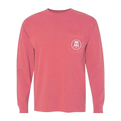 Comfort Colors Stool Star Long Sleeve Pocket Tee (Heather Red): Clothing