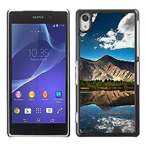 Be Good Phone Accessory // Dura Cáscara cubierta Protectora Caso Carcasa Funda de Protección para Sony Xperia Z2 D6502 D6503 D6543 L50t L50u // Nature Beautiful Forrest Green 101