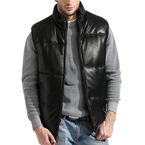 tanners-avenue-mens-lambskin-leather-bubble-vest-classic-size-large-black