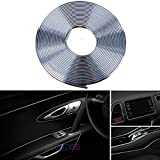 EJ's SUPER CAR 3D DIY 5 Meters Electroplating color film Automobile Car motor Interior Exterior Decoration Moulding Trim Strip line Sticker (Gray)