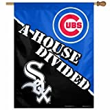 MLB Chicago Cubs vs. Chicago White Sox 27 by 37-Inch House Divided Vertical Flag by Wincraft
