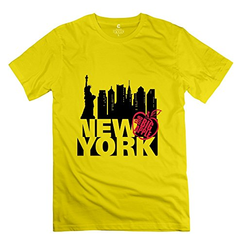- Big New York 100% Cotton Men T-Shirt Yellow Size XXL Funny By Rahk