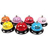 JUNDA Service Call Bell,Desk Bell,Ring Bell for Desk Kitchen Hotel Counter Reception Restaurant Bar,Pack of 3£¨Style and Color Random)