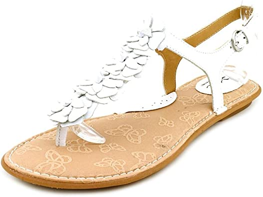 Ramey Flat Thong Sandals in White Size